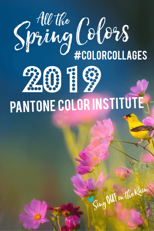 Pantone has released it\'s 2019 Spring color palette.  Use these colors to create the perfect aesthetic in your home AND wardrobe this season.  Save these color collages as the perfect swatches to match when you are out and about.  Color Trends and Color of the year are included.  #colorcollage #pantonecolors