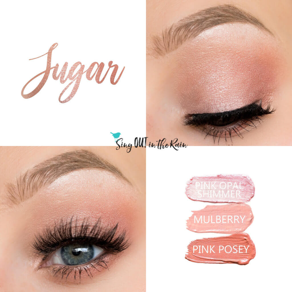 Sugar ShadowSense Trio, Pink Posey ShadowSense, Mulberry ShadowSense, Pink Opal Shimmer ShadowSense, Trendy Easter Makeup Looks, Trendy Easter Makeup Ideas