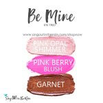 pink opal shimmer shadowsense, pink berry blushsense, garnet shadowsense, be mine eye trio