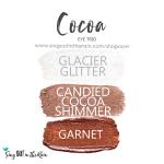 Cocoa Eye Trio, Glacier Glitter Shadowsense, candied cocoa shimmer shadowsense, garnet shadowsense
