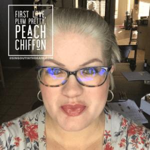 First Love LipSense, Plum Pretty LipSense, Peach Chiffon LipSense, LipSense Mixology