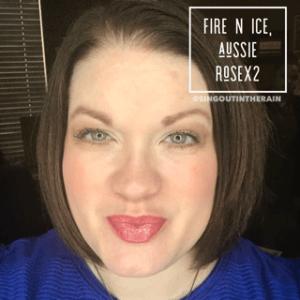 Fire N Ice LipSense, Fire N Ice LipSense Combos, LipSense Mixology, Aussie Rose LipSense