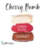 Sandstone pearl shimmer shadowsense, cherry blushsense, garnet shadowsense, cherry bomb trio