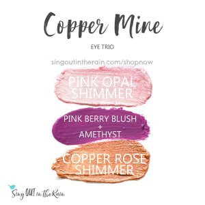 Pink Opal Shimmer Shadowsense, copper rose shimmer shadowsense, pink berry blush, amethyst shadowsense, copper mine trio