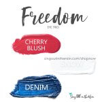 Cherry Blush, Snow ShadowSense, Denim ShadowSense, Freedom Trio