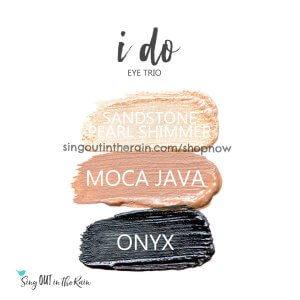 sandstone pearl shimmer shadowsense, moca java shadowsense, onyx shadowsense, i do trio