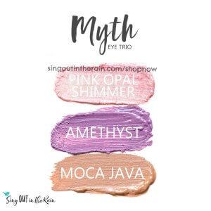 Pink Opal Shimmer Shadowsense, Myth Trio, Amethyst shadowsense, moca java shadowsense