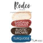 Rodeo Trio, sandstone pearl shimmer shadowsense, bandana shimmer shadowsense, rustic brown shadowsense, turquoise shadowsense