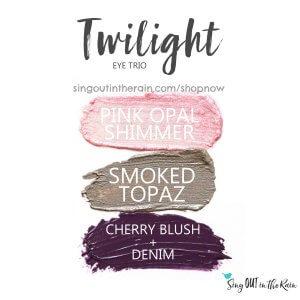 twilight trio, pink opal shimmer shadowsense, smoked topaz shadowsense, cherry blush, Denim shadowsense