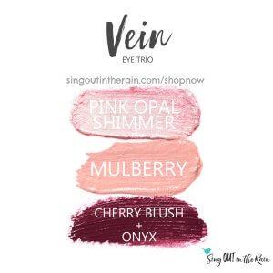 pink opal shimmer shadowsense, mulberry shadowsense, cherry blush, onyx shadowsense, vein trio