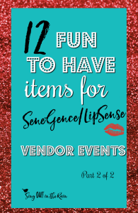 lipsense vendor display, senegence vendor table