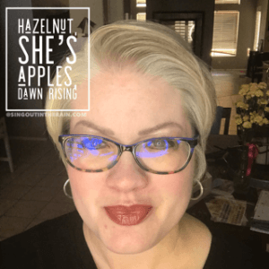 Hazelnut LipSense, She's Apples LipSense, Dawn Rising LipSense, LipSense Mixology