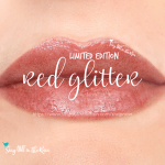 lipsense gloss red glitter