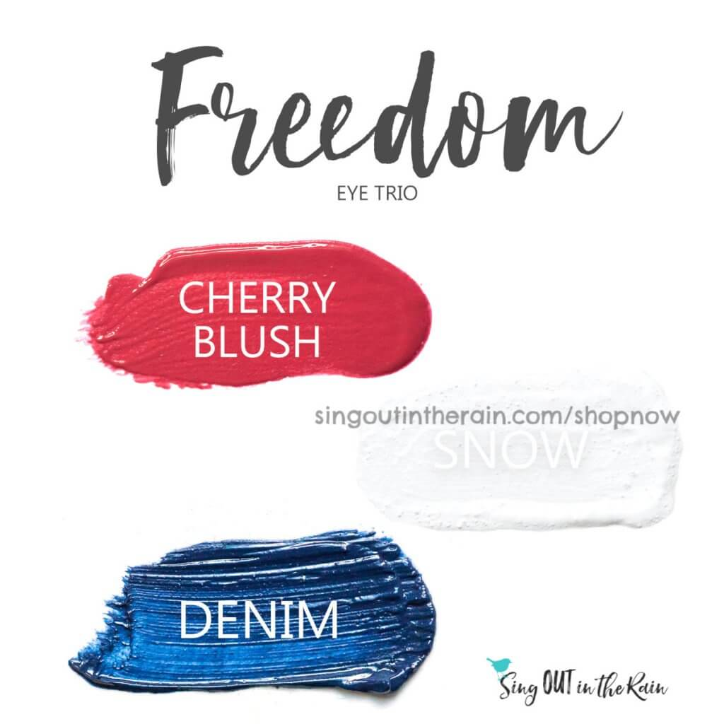Freedom Shadowsense Eye Trio, Cherry Blush, Cherry BlushSense, Denim ShadowSense, Snow ShadowSense