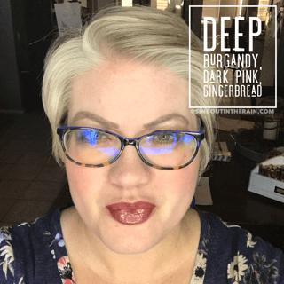 Deep Burgandy LipSense, Lipsense mixology, Dark Pink lipsense, gingerbread lipsense