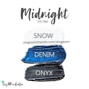 Midnight ShadowSense Eye Trio, Snow Shadowsense, Denim Shadowsense, onyx shadowsense