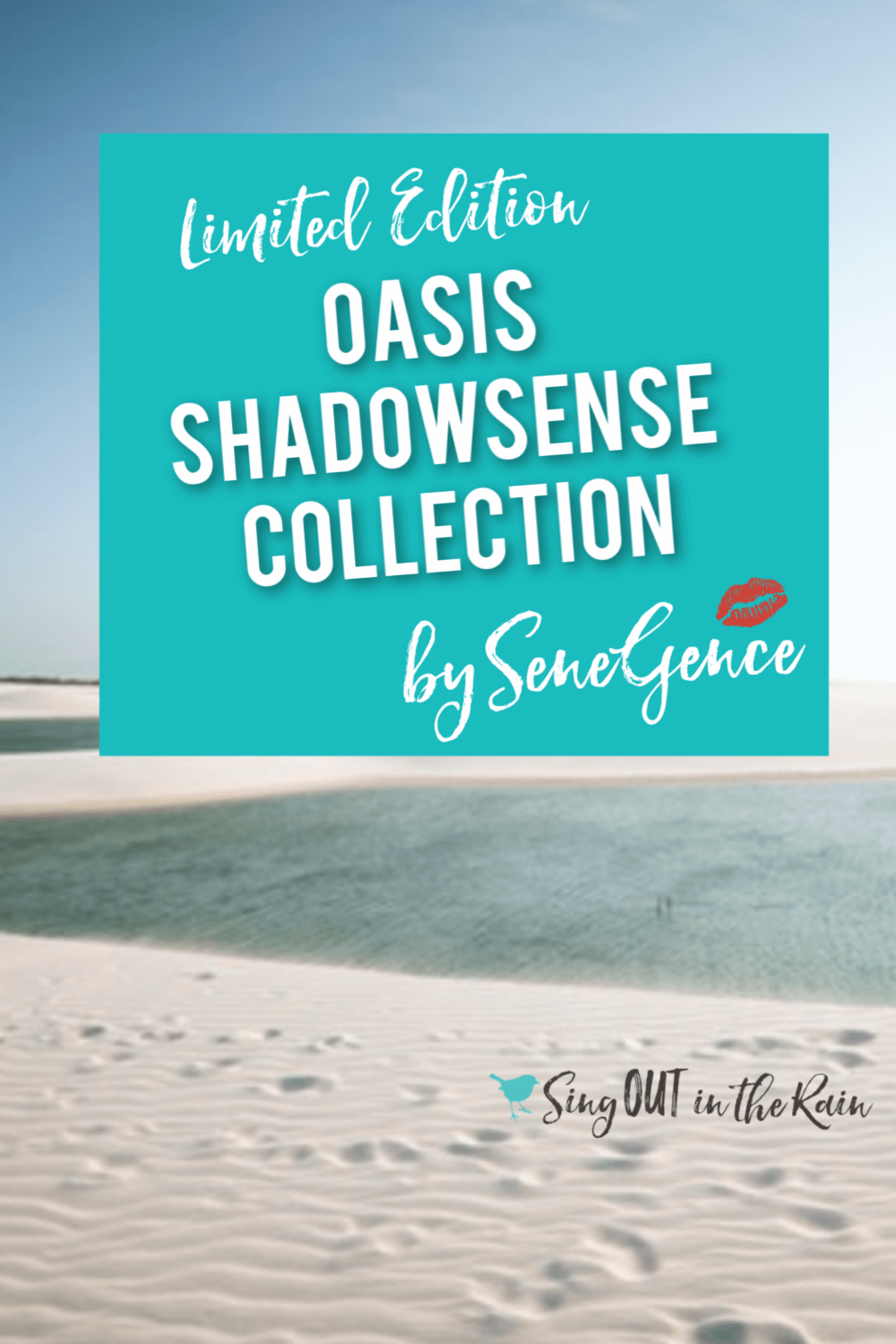 Oasis ShadowSense Collection by SeneGence includes Oasis Glitter and Dusk Shimmer eyeshadow.  These Limited Edition colors are new for Summer 2019 and will go perfectly with any outfit you can throw together.  Get your summer makeup fix on.  Eye makeup that lasts in the pool, ocean and at the lake is NOT common.  Take advantage and get your long lasting makeup today.   #senegence #oasiscollection #shadowsense