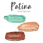 Patina Shadowsense Eye Trio, Seafoam Shimmer shadowsense, copper rose shimmer shadowsense, garnet shadowsense