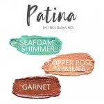 Patina Shadowsense Eye Trio, Seafoam Shimmer shadowsense, copper rose shimmer shadowsense, garnet shadowsense
