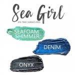 Sea Girl Shadowsense Eye Trio, Seafoam Shimmer Shadowsense, Denim Shadowsense, Onyx Shadosense