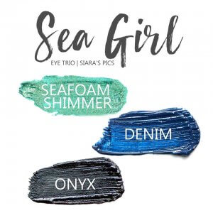 Sea Girl Shadowsense Eye Trio, Seafoam Shimmer Shadowsense, Denim Shadowsense, Onyx Shadosense