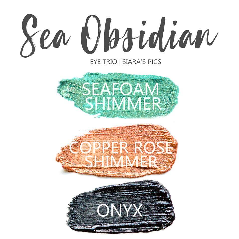 Sea Obsidian Shadowsense Eye Trio, Seafoam Shimmer Shadowsense, Copper rose shimmer shadowsense, onyx shadowsense