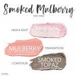 smoked mulberry shadowsense eye trio, pink opal shimmer shadowsense, mulberry shadowsense, smoked topaz shadowsense