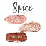 spice shadowsense eye trio, shell glitter shadowsense, moca java shimmer shadowsense, garnet shadowsense