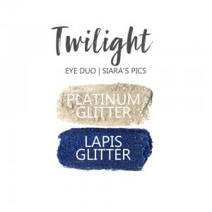 twilight shadowsense eye trio, platinum glitter shadowsense, lapis glitter shadowsense