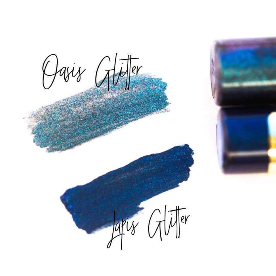 oasis glitter shadowsense, lapis glitter shadowsense, oasis shadowsense collection, oasis collection