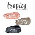 Tropics Shadowsense Eye Trio, Shell Glitter Shadowsense, smoked topaz shadowsense, onyx shadowsense
