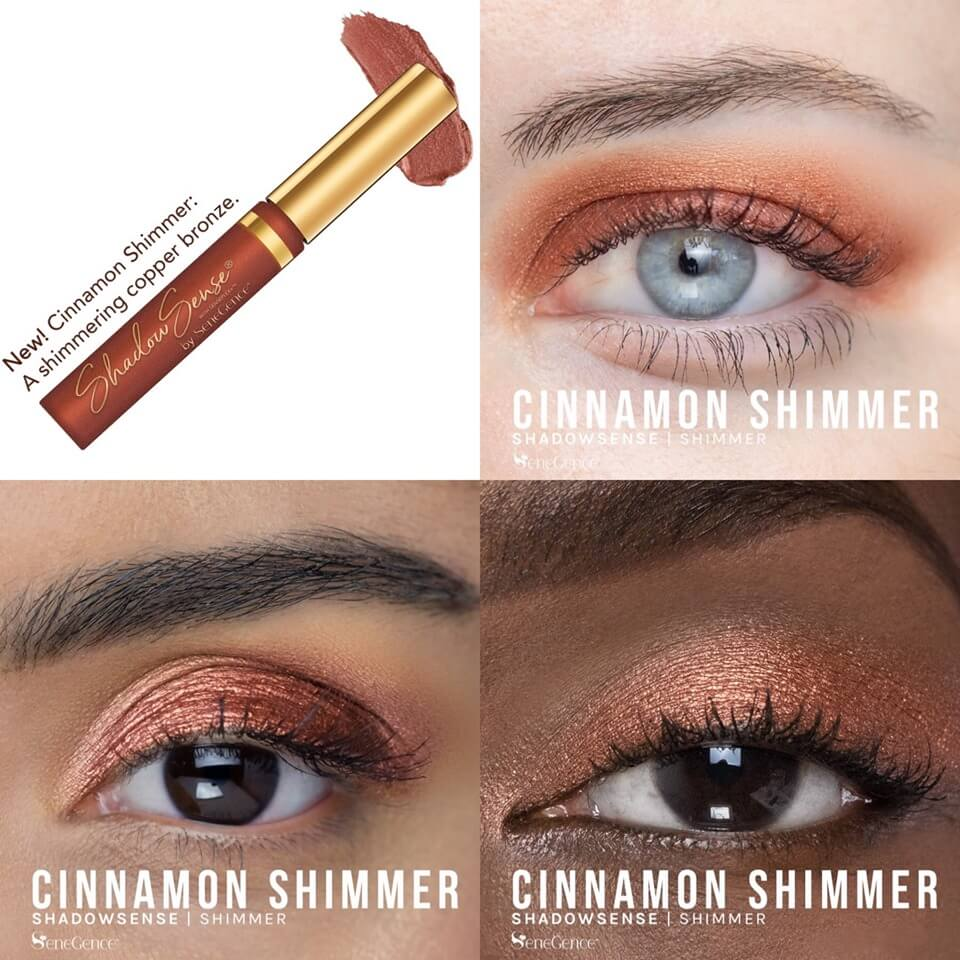 shadowsense cafe collection, cafe collection by senegence, cinnamon shimmer shadowsense