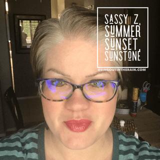 Sassy Z LipSense, Summer Sunset LipSense, Sunstone LipSense