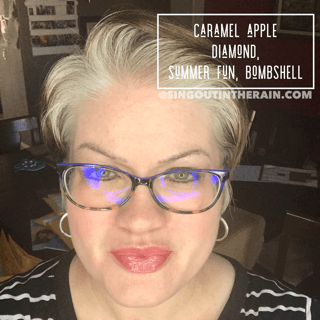 Caramel Apple Diamond LipSense, Bombshell LipSense, Summer Fun LipSense, LipSense Mixology