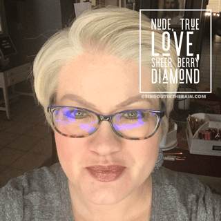 Nude LipSense, Lipsense Mixology, True Love LipSense, Sheer berry Diamond LipSense