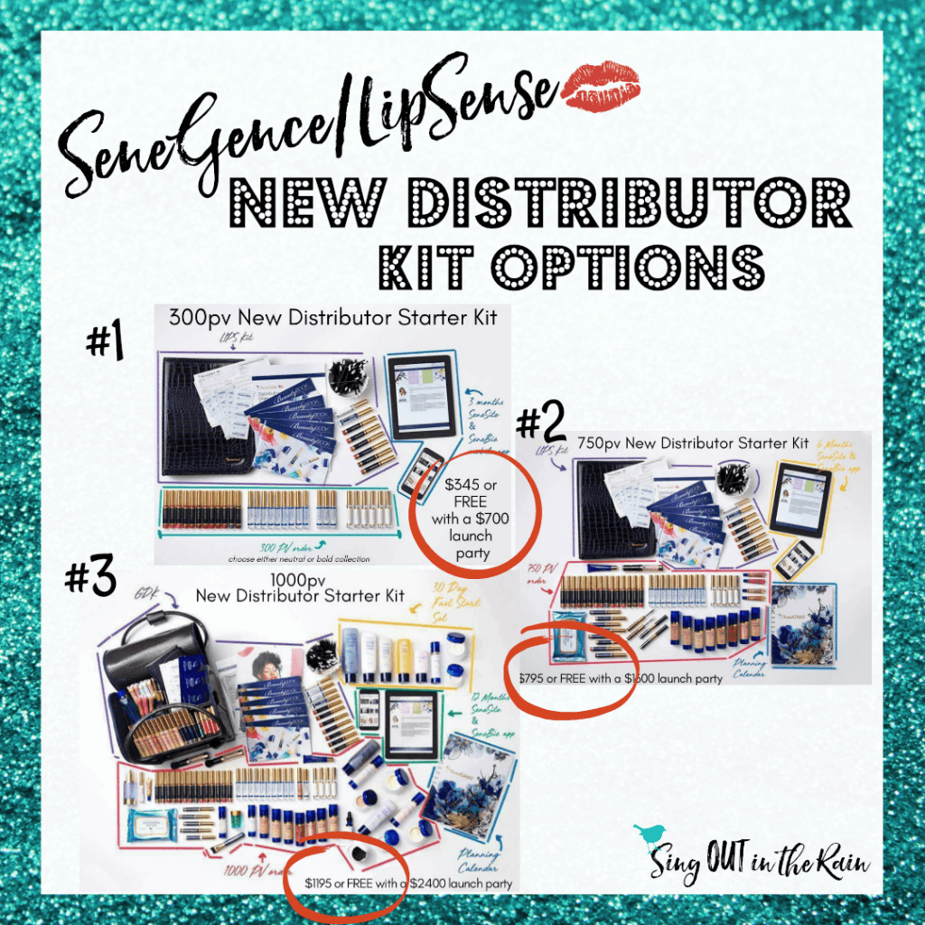 senegence new distributor checklist, senegence distributor tips, new distributor kit options, senegence new distributor kit options, lipsense new distributor kit options