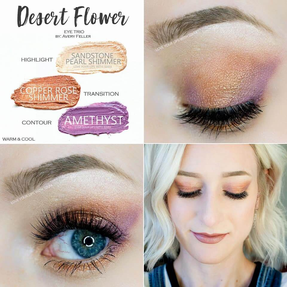 Desert Flower ShadowSense, Sandstone Pearl Shimmer ShadowSense, Copper Rose Shimmer ShadowSense, Amethyst ShadowSense