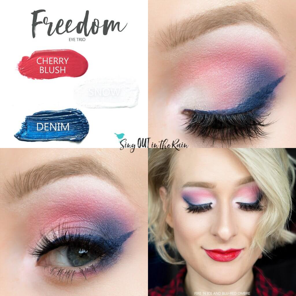 cherry blushsense, snow shadowsense, denim shadowsense, freedom shadowsense,