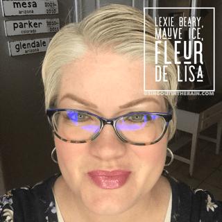 Lexie Beary LipSense, Mauve Ice LipSense, Fleur de Lisa lipSense, Lipsense mixology