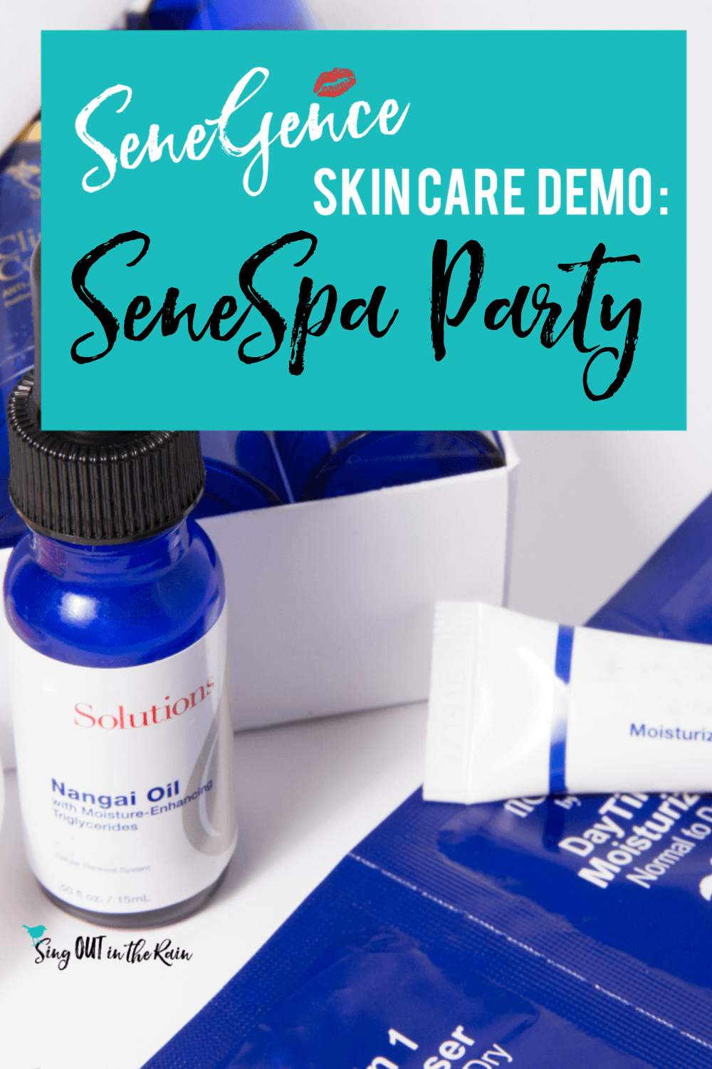 Level up with this SeneGence Skincare Party including: graphics, set up, display, and invites.  Whether a launch for a new distributor or a seasoned consultant - no games needed.  These ideas will fill your calendar FAST! Learn to demo, offer the skincare quiz and PARTY like a SeneSister!  #senegence #skincare #skincaredemo #senespaparty #spaparty