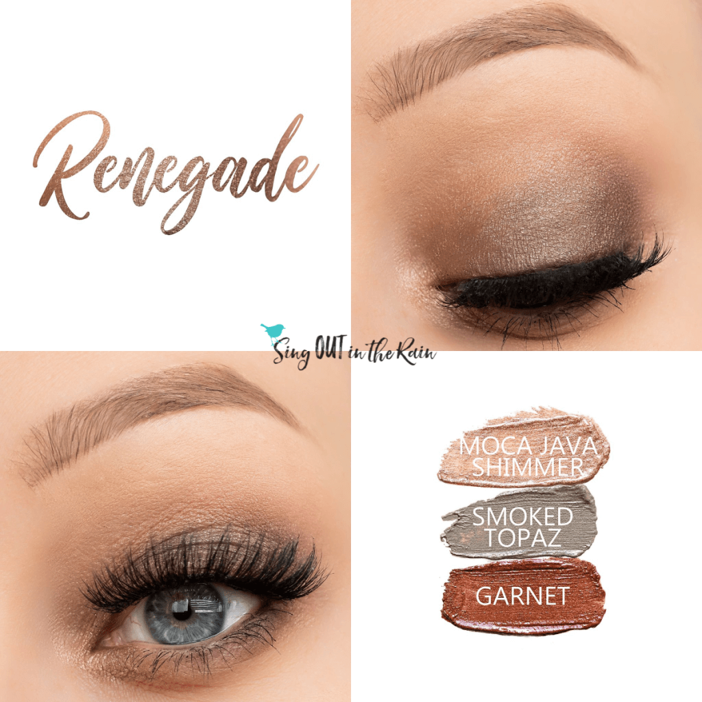 Renegade Eye Trio includes moca java shimmer, smoked topaz and garnet shadowsense
