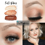 sandstone pearl shimmer shadowsense, copper rose shimmer shadowsense, garnet shadowsense, fall vibes shadowsense, fall senegence eye makeup, best shadowsense looks for makeup