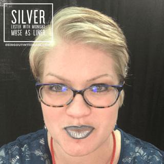silver luster lipsense, lipsense mixology, Midnight Muse LipSense