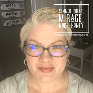 summer treat lipsense, lipsense mixology, mirage lipsense, nude honey lipsense
