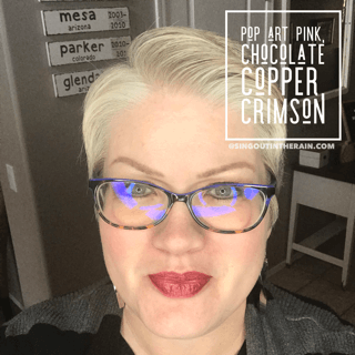Pop Art Pink LipSense, Chocolate Copper LipSense, Crimson LipSense, LipSense Mixology