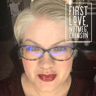 First Love LipSense, LipSense Mixology, Nutmeg LipSense, Crimson LipSense