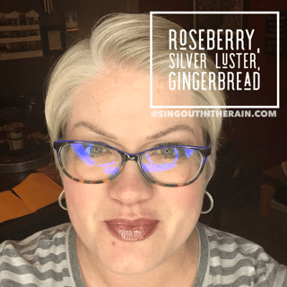 Roseberry LipSense, Silver Luster LipSense, Gingerbread LipSense, LipSense Mixology