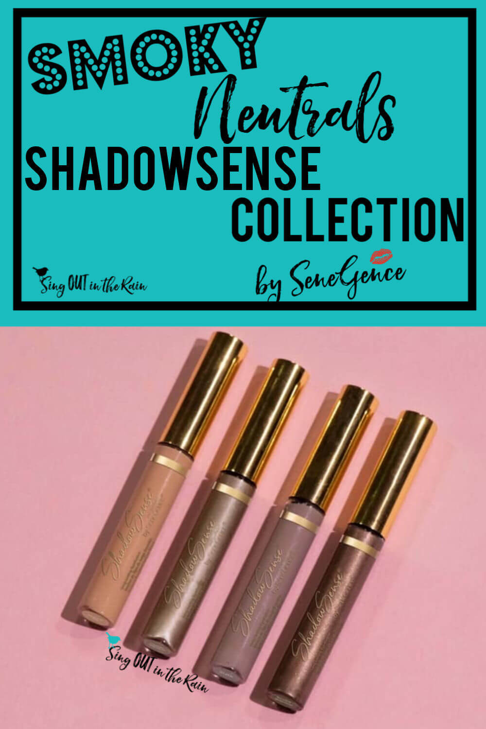 The Smoky Neutrals ShadowSense Collection by SeneGence is smoky and sultry.  Nail your next smoked out eye look by using one of these four Limited Edition eyeshadow colors: slate, pewter shimmer, natural tan & smoke shimmer.  Smoke out your look and it will last all day.  No smudging or budging - just gorgeous eyes all day long.  #senegence #shadowsense #smokyneutrals #smokeitout #smokyeye #eyemakeup