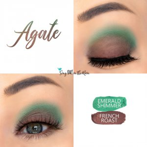 Agate Duo Collage, Emerald Shimmer shadowsense, french roast shadowsense