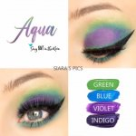 Aqua Eye Quad, Green ShadowSense, Blue ShadowSense, Violet ShadowSense, Indigo ShadowSense